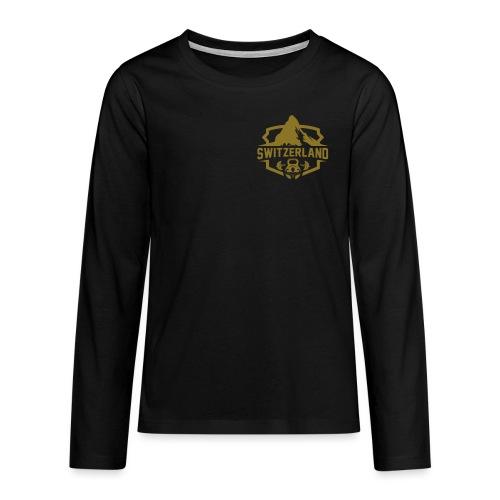 Swiss Mountain _ Gold Edtion - Teenager Premium Langarmshirt