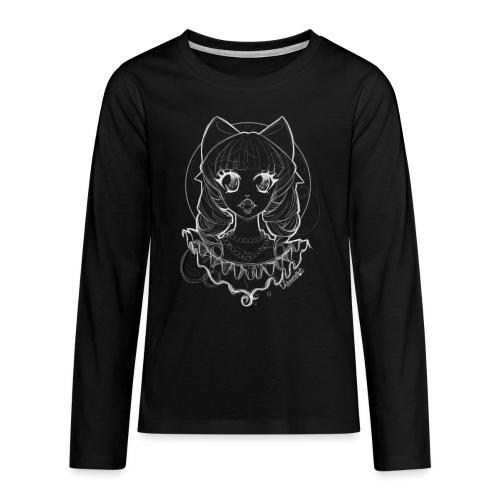 Vampier Lena (witte schets) - Teenagers' Premium Longsleeve Shirt