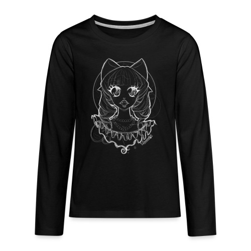 Vampier Lena wit EnChantalled png - Teenagers' Premium Longsleeve Shirt