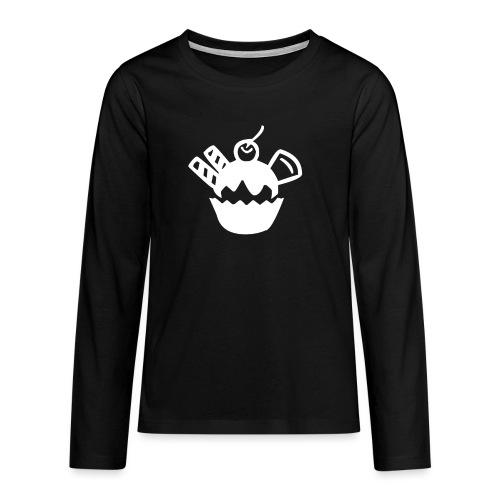 Eis und Eiscreme Symbol - Teenager Premium Langarmshirt