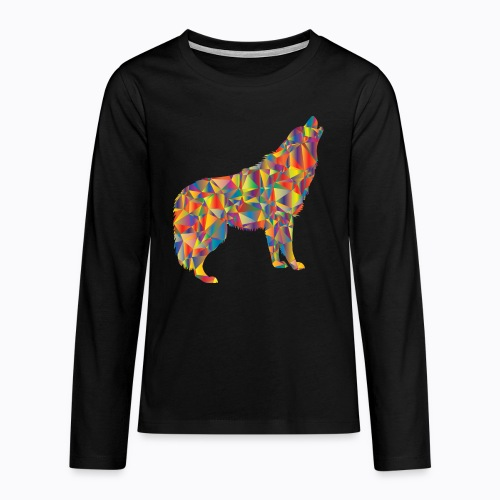 howling colorful - Teenagers' Premium Longsleeve Shirt