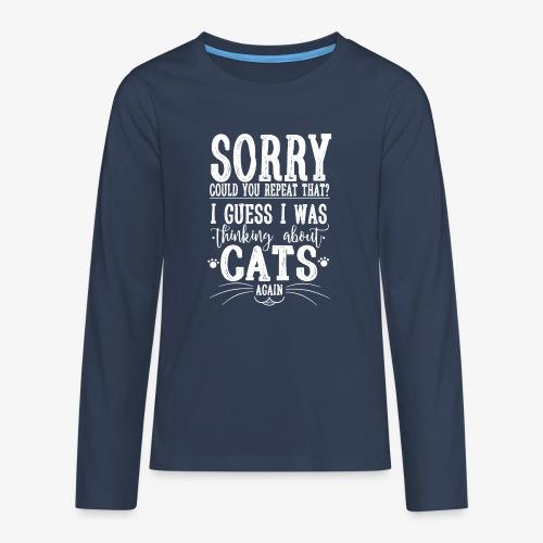 Sorry Cats II - Teinien premium pitkähihainen t-paita