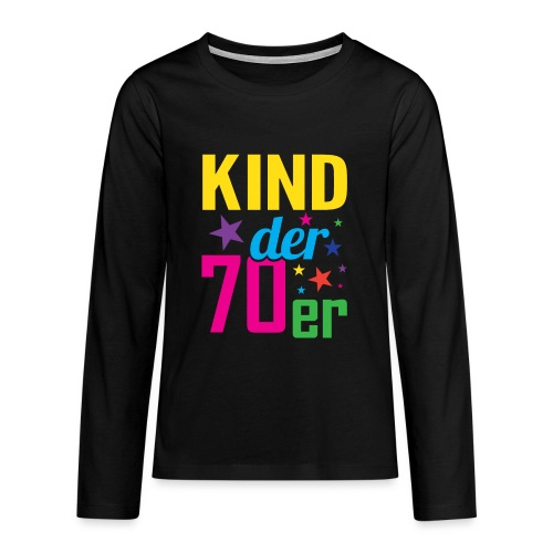 Kind der 70er - Teenager Premium Langarmshirt