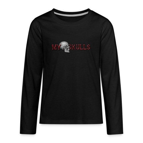 myskulls vorlage gross - Teenager Premium Langarmshirt