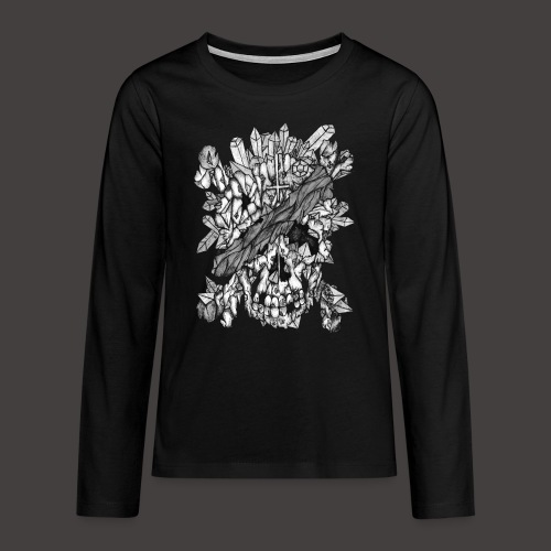 Crane de Pirate de Cristal Noir et Blanc - T-shirt manches longues Premium Ado