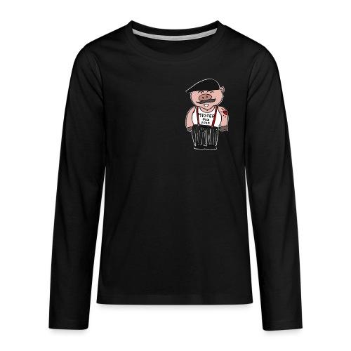 nouvel an chinois - Monsieur Cochon - T-shirt manches longues Premium Ado