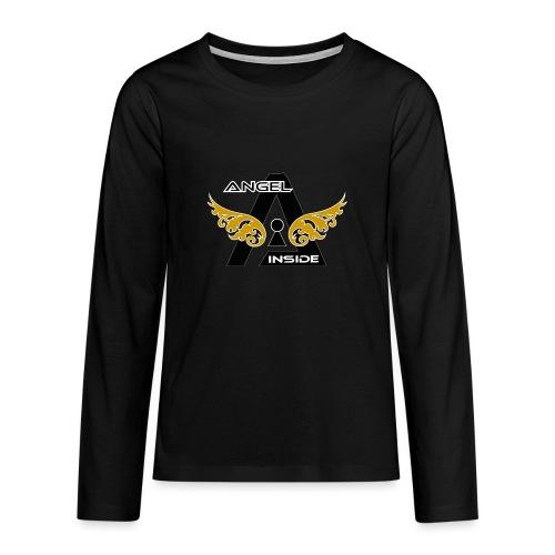ANGEL INSIDE2-01 - Maglietta Premium a manica lunga per teenager