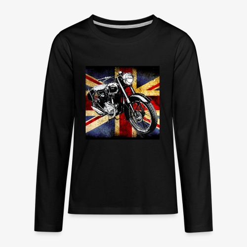 BSA motor cycle vintage by patjila 2020 4 - Teenagers' Premium Longsleeve Shirt