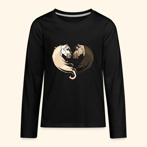 Chevaux amoureux gris-gris - T-shirt manches longues Premium Ado