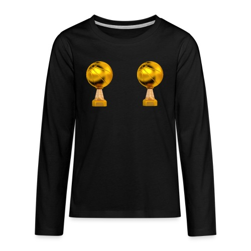 Basketball Golden Trophy - T-shirt manches longues Premium Ado