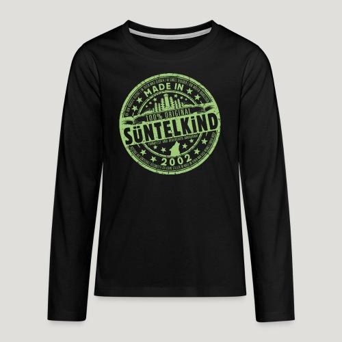 SÜNTELKIND 2002 - Das Süntel Shirt mit Süntelturm - Teenager Premium Langarmshirt