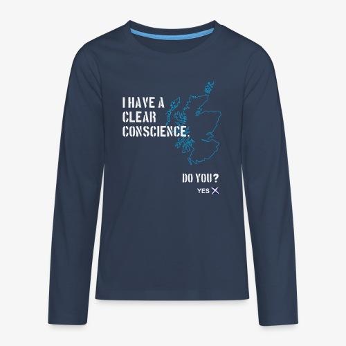 Clear Conscience - Teenagers' Premium Longsleeve Shirt