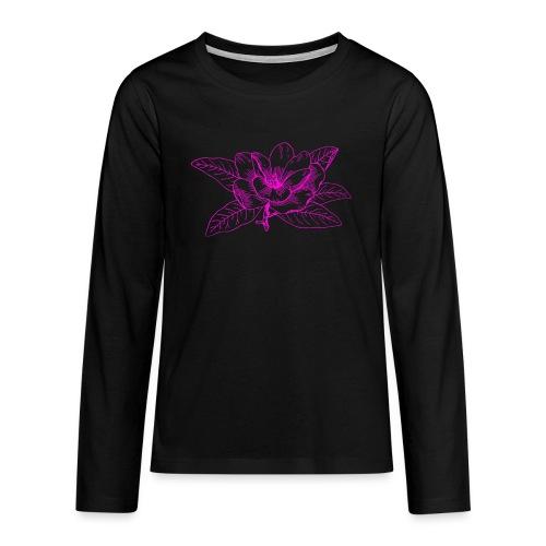 Camisetas y accesorios de flor color rosada - Camiseta de manga larga premium adolescente