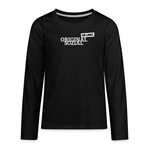 Schriftzug_original - Teenager Premium Langarmshirt