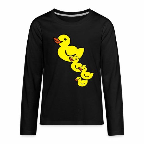 Ente - Teenager Premium Langarmshirt