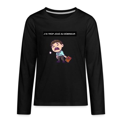 J'ai trop joué au démineur - T-shirt manches longues Premium Ado