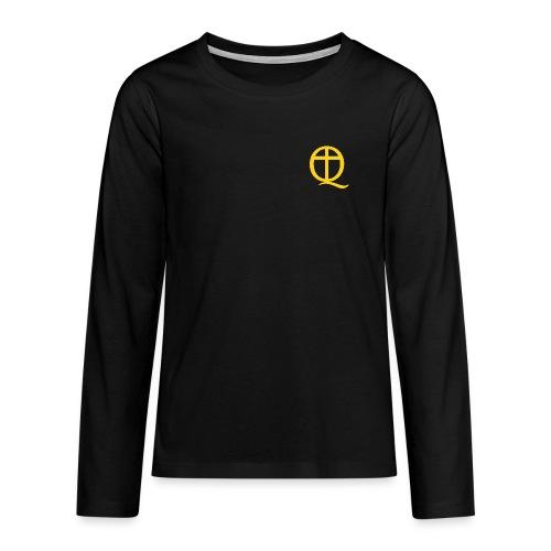 QC Gul - Långärmad premium T-shirt tonåring