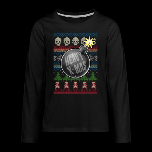 Heavy X-Mas Christbaumkugel-Bombe - Teenager Premium Langarmshirt