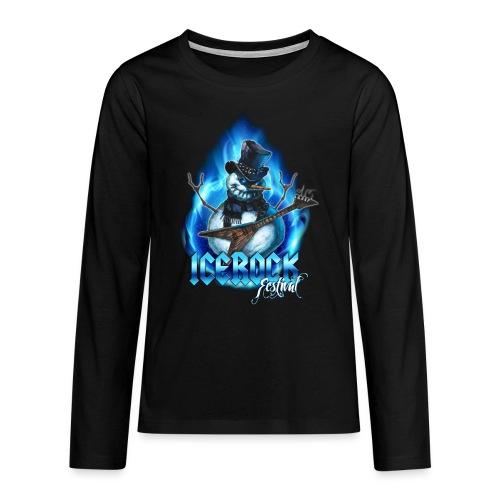 Snowman Evil - Teenager Premium Langarmshirt