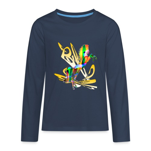 cheval sauvage - T-shirt manches longues Premium Ado