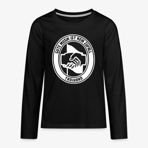 Logo Troihand invertiert - Teenager Premium Langarmshirt