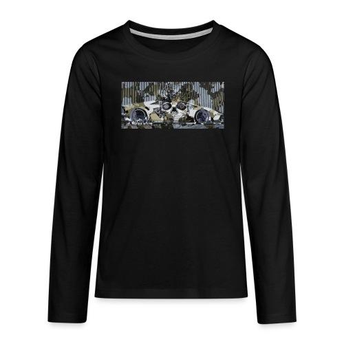 calavera style - Teenagers' Premium Longsleeve Shirt