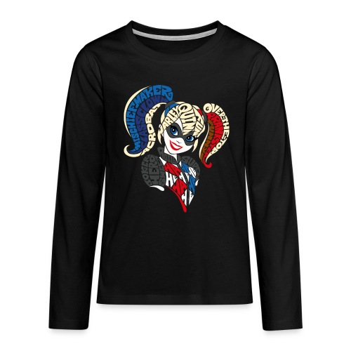 DC Super Hero Girls Harley Quinn Typografie - Teenager Premium Langarmshirt