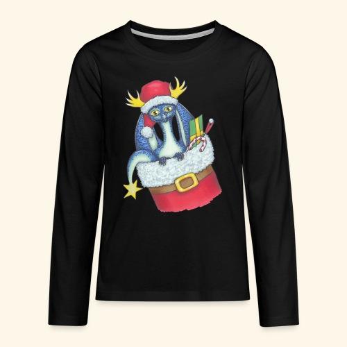 Juldrake - Långärmad premium T-shirt tonåring