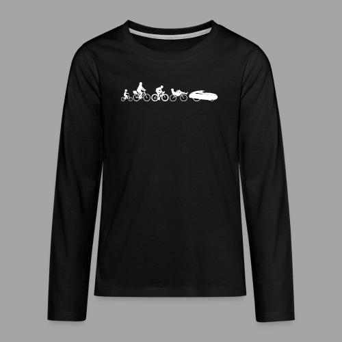 Bicycle evolution white - Teinien premium pitkähihainen t-paita