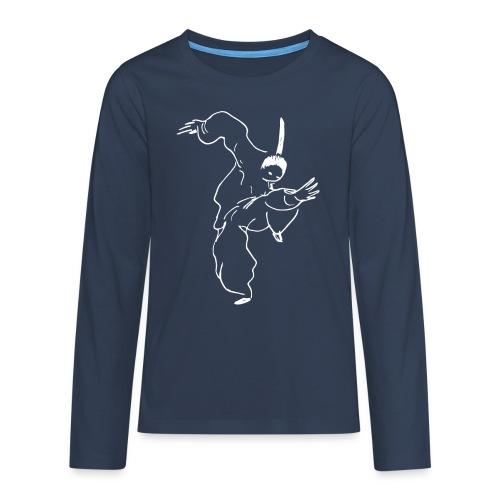 Kung Fu fighter / white - Teenagers' Premium Longsleeve Shirt