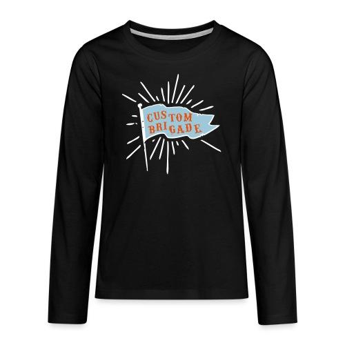 drapeau custom brigade - T-shirt manches longues Premium Ado
