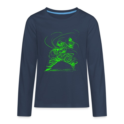 Kung Fu Sorcerer / Kung Fu Wizard - Teenagers' Premium Longsleeve Shirt