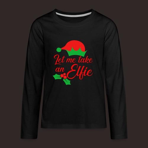 Weihnachten | Elf Mütze Weihnachtself Wortspiel - Teenager Premium Langarmshirt