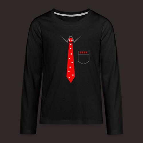 Geek | Schlips Krawatte Wissenschaft Streber - Teenager Premium Langarmshirt