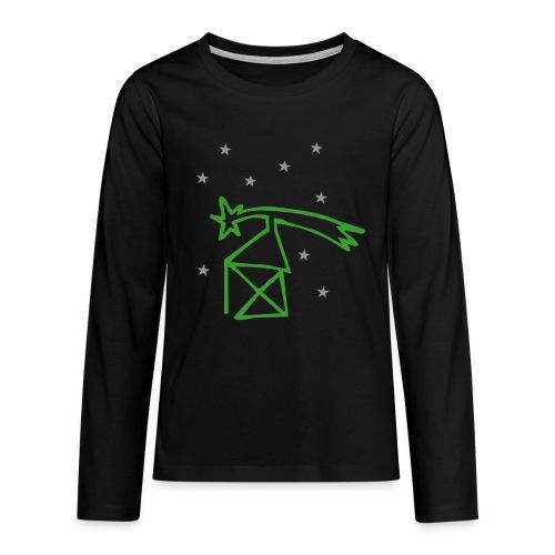 nikolaushaus mit komet - Teenager Premium Langarmshirt