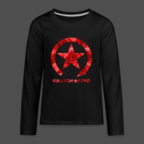 KILLSCHALTER Logo Roses - Koszulka Premium z długim rękawem dla nastolatków