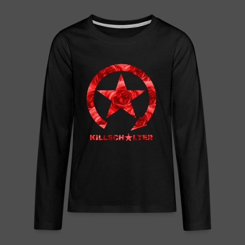 KILLSCHALTER Logo Roses - Teenagers' Premium Longsleeve Shirt