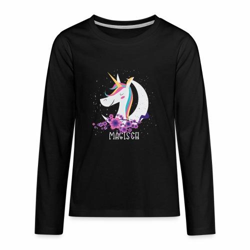 Magisches Einhorn - Teenager Premium Langarmshirt