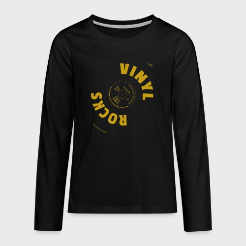T-Record - Vinyl Rocks! - Teenager Premium shirt met lange mouwen