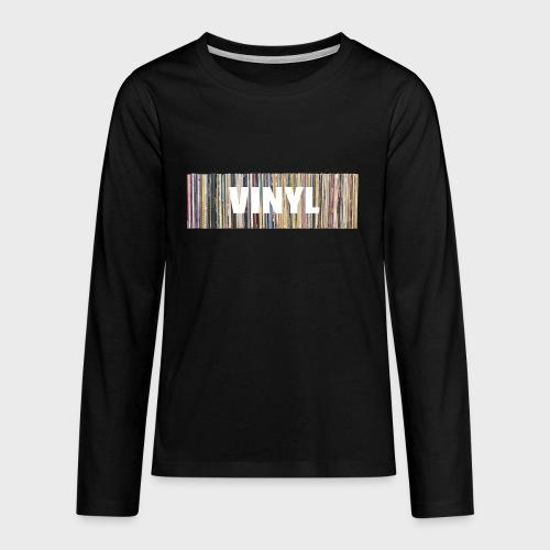 T-Record - Vinyl 'Alles op een rij' - Teenager Premium shirt met lange mouwen