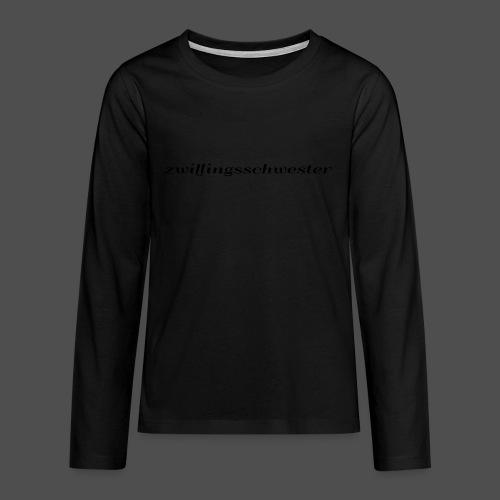 bliźniaczka - Koszulka Premium z długim rękawem dla nastolatków