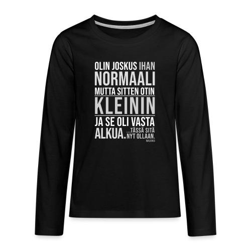 Vasta Alkua Kleini - Teinien premium pitkähihainen t-paita