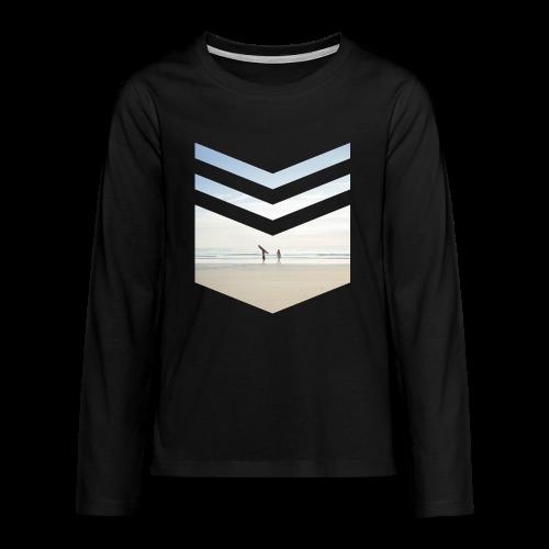 Surf Beach Triangle - Teenager Premium Langarmshirt