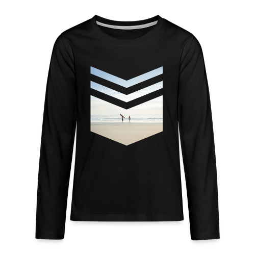 Surfing Beach - Teenager Premium Langarmshirt