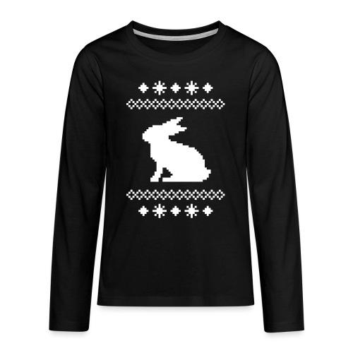 Norwegerhase hase kaninchen häschen bunny langohr - Teenager Premium Langarmshirt