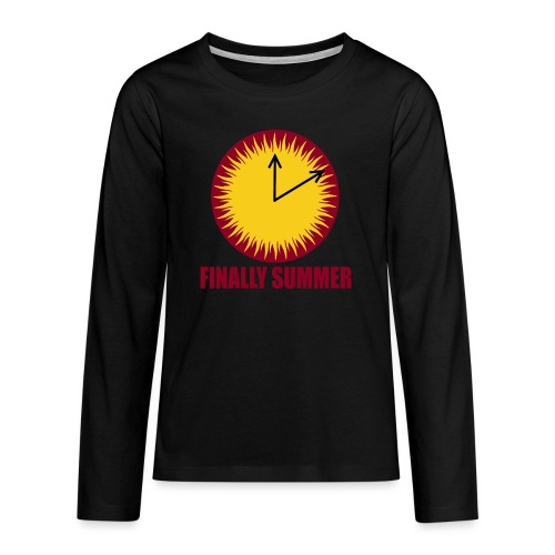 Finally Summer - Teenager Premium Langarmshirt