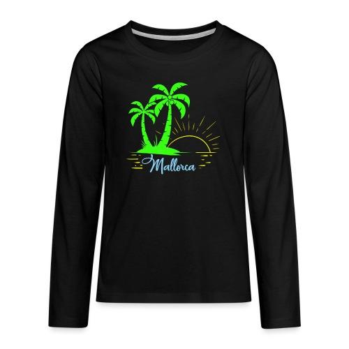 Die goldenen Sonnenuntergänge von Mallorca - Teenager Premium Langarmshirt