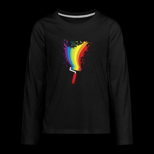 Paint roller Vivid Color - Teenager Premium Langarmshirt