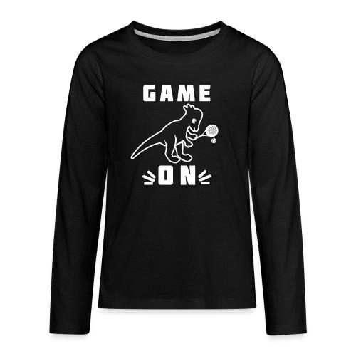 Game On Padel Tennis Saurus - Långärmad premium T-shirt tonåring