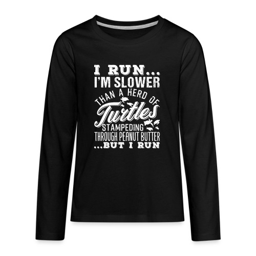 Run Turtles As Fast As We Can - Teenager Premium Langarmshirt